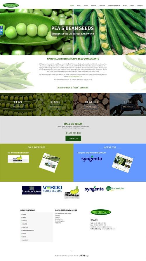 Dt Seeds Homepage Web Design